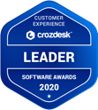 Crozdesk Customer Experience Software Leader Badge