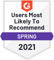 Users Most Likely To Recommend Spring 2021