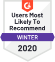 G 2 Live Chat All Segments Most Likely To Recommend Q 1 2020