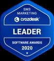 Crozdesk Sms Marketing Software Leader Badge