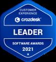 Crozdesk Customer Experience Software Leader Badge