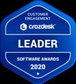 Customer Engagement Crozdesk Leader Soft Awards 2020