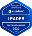 Customer Experience Crozdesk Leader Soft Awards 2020