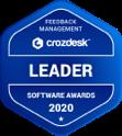 Feedback Management Crozdesk Leader Soft Awards 2020