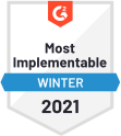 Most Implement Winter 2021