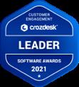 Crozdesk Customer Engagement Software Leader Badge