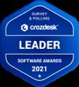 Crozdesk Survey Polling Software Leader Badge