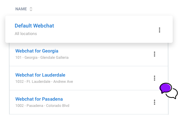Multi Location Webchat