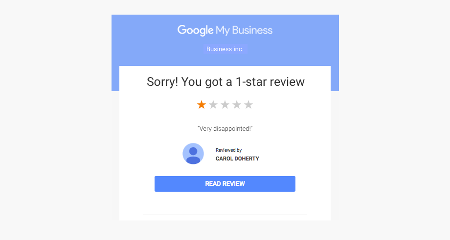 Review Management Email