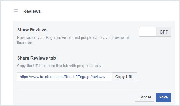 How To Turn Off Facebook Reviews Step 2