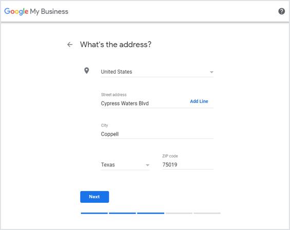 Add Your Address