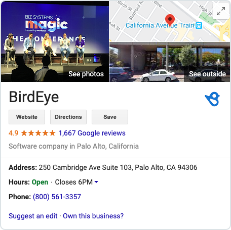 Google My Business Knowledge Panel