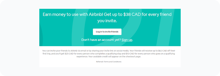 Referral Program Examples Airbnb