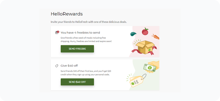 Referral Program Examples Hellofresh