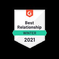 G2 Best Relationship Winter 2021