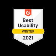 G2 Best Usability Winter 2021