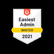 G2 Easiest Admin Winter 2021